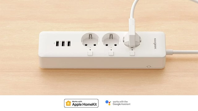 Multipresa Ciabatta Intelligente Wifi Koogeek 3 Presa 3 Porte USB Compatibile con Apple HomeKit, Ale